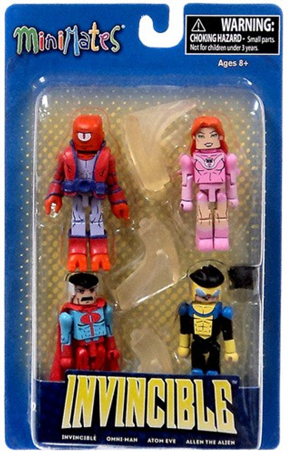 Minimates Invincible, Atom Eve, Omni-Man & Allen the Alien Minifigure 4-Pack