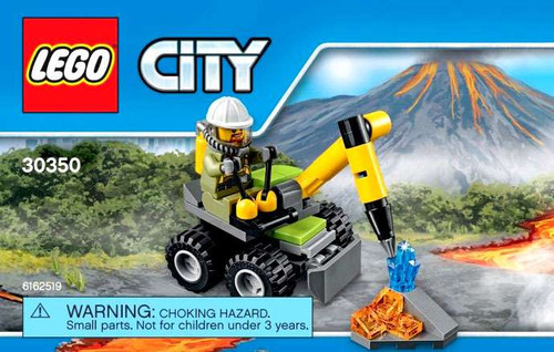 LEGO City Volcano Jackhammer Mini Set #30350 [Bagged]