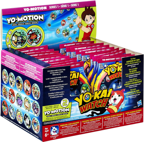 Yo-Kai Watch Yo-Motion Series 1 Mystery Box [24 Packs]