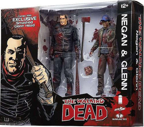 McFarlane Toys The Walking Dead Negan & Glenn Exclusive Action Figure 2-Pack [Full Color]