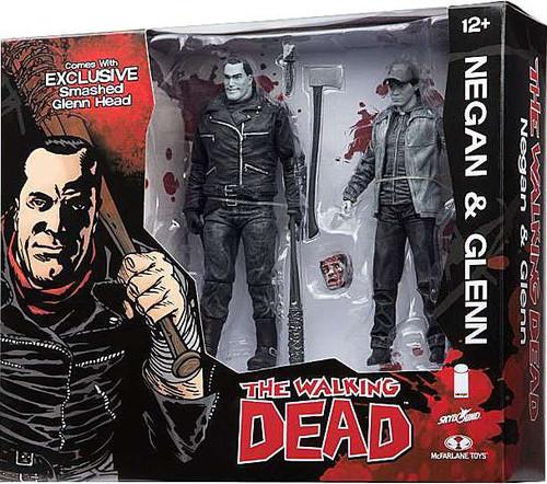 McFarlane Toys The Walking Dead Negan & Glenn Exclusive Action Figure 2-Pack [Black & White]