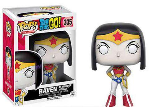 Funko DC Teen Titans Go! POP! TV Raven as Wonder Woman Exclusive Vinyl Figure #335
