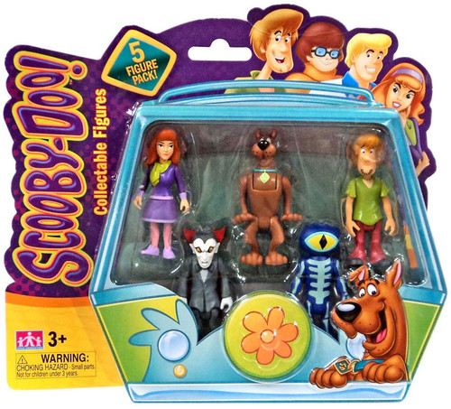 Scooby Doo Daphne, Scooby, Shaggy, Dracula & Skeleton Action Figure 5-Pack