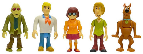 Scooby Doo Shaggy, Scooby, Fred, Velma & Zombie Action Figure 5-Pack [RANDOM Package, Same Exact Contents]