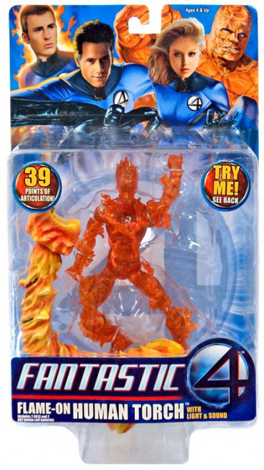 Marvel Fantastic Four Flame-On Human Torch Action Figure
