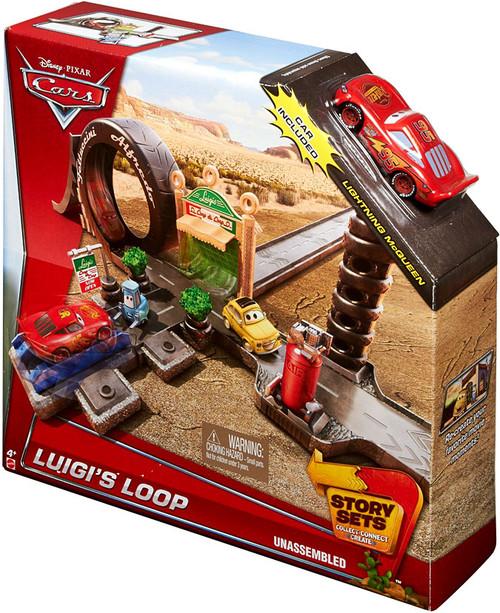 Disney / Pixar Cars Story Sets Luigi's Loop Playset [Damaged Package]