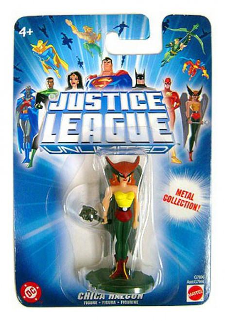 DC Justice League Unlimited Metal Collection HawkGirl Mini Figure [Blue Card]