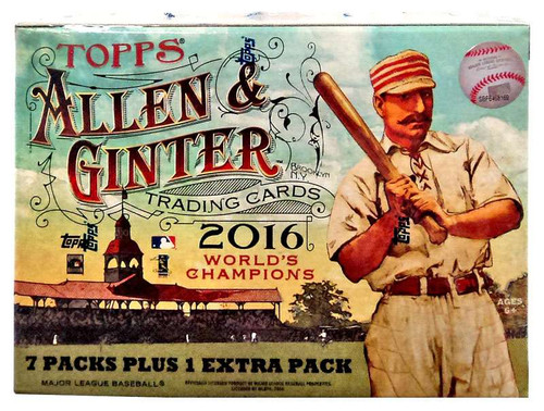 MLB Topps 2016 Allen & Ginter Baseball Trading Card BLASTER Box