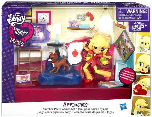My Little Pony Equestria Girls Minis Applejack Slumber Party Games Playset