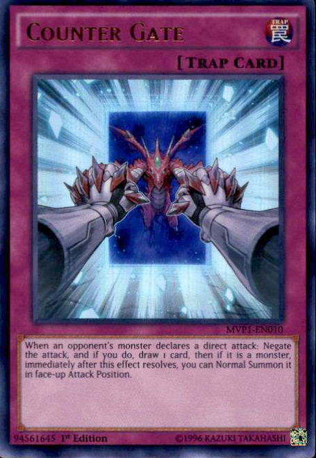 YuGiOh Dark Side of Dimensions Movie Ultra Rare Counter Gate MVP1-EN010