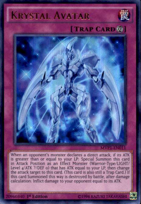 YuGiOh Dark Side of Dimensions Movie Ultra Rare Krystal Avatar MVP1-EN011