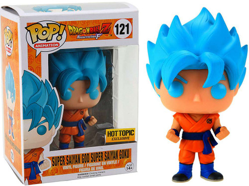 Funko Dragon Ball Z: Resurrection 'F' POP! Animation Super Saiyan God Super Saiyan Goku Exclusive Vinyl Figure #121