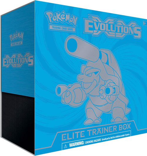 Pokemon Trading Card Game XY Evolutions Mega Blastoise Elite Trainer Box [8 Booster Packs, 65 Card Sleeves, 45 Energy Cards & More]
