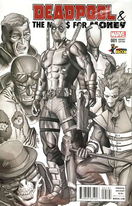 Deadpool Deapool & The Mercs for Money #1 Black & White Variant Cover Comic Con Box Comic Book [Polybagged, Greg Horn]