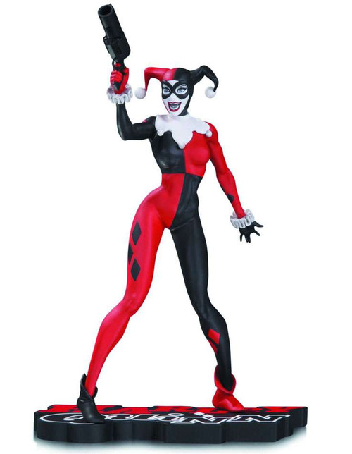 Batman Harley Quinn Red, White & Black Harley Quinn 7-Inch Statue [Jim Lee]