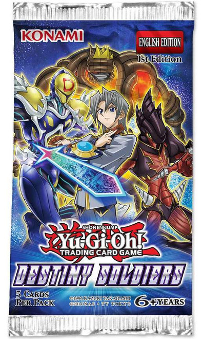 YuGiOh Trading Card Game Destiny Soldiers Booster Pack [5 Cards]