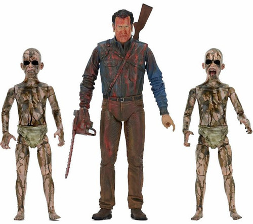 NECA Ash vs Evil Dead Bloody Ash vs Demon Spawn Action Figure 3-Pack
