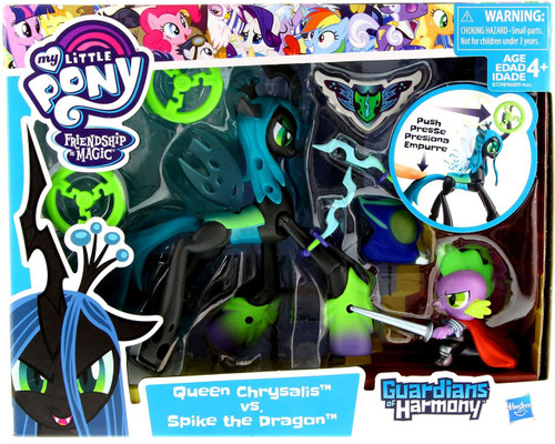 My Little Pony Guardians of Harmony Queen Chrysalis vs. Spike the Dragon Figure 2-Pack [Good Vs. Evil]