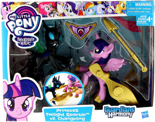 My Little Pony Guardians of Harmony Princess Twilight Sparkle vs. Changeling Figure 2-Pack [Good Vs. Evil]