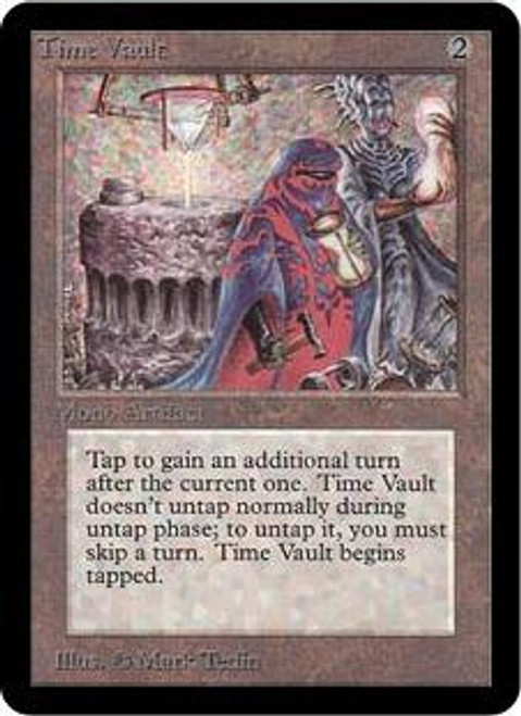MtG Alpha Rare Time Vault [Signed by the Artist]