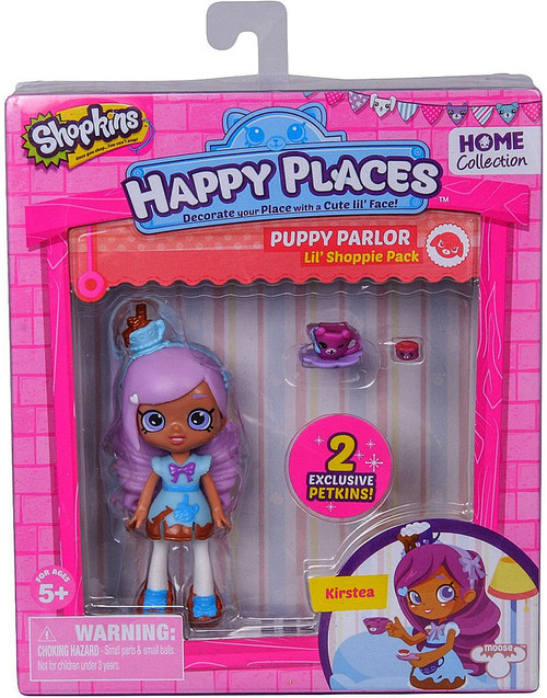 Shopkins Happy Places Series 1 Kirstea Lil' Shoppie Pack #72 & 73 [Puppy Parlor]