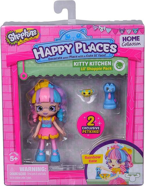 Shopkins Happy Places Series 1 Rainbow Kate Lil' Shoppie Pack #151 & 152 [Kitty Kitchen]