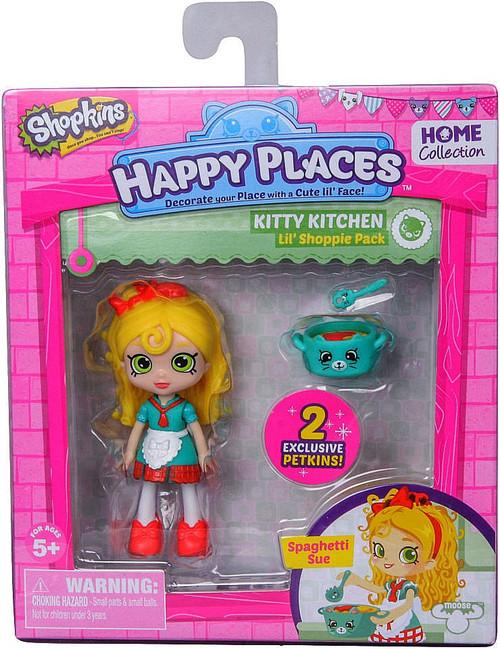 Shopkins Happy Places Series 1 Spaghetti Sue Lil' Shoppie Pack #153 & 154 [Kitty Kitchen]