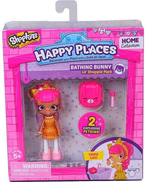 Shopkins Happy Places Series 1 Lippy Lulu Lil' Shoppie Pack #295 & 296 [Bathing Bunny]