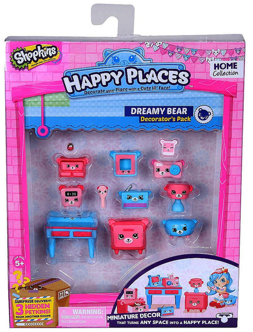 Shopkins Happy Places Series 1 Dreamy Bear Decorator's Pack