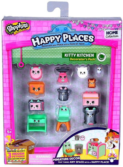 Shopkins Happy Places Series 1 Kitty Kitchen Decorator's Pack