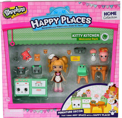 Shopkins Happy Places Series 1 Kitty Kitchen Welcome Pack [Coco Cookie]