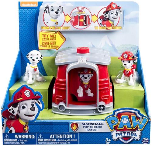 Paw Patrol Pup to Hero Marshall Playset
