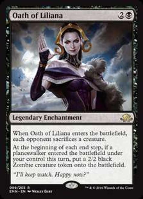 MtG Eldritch Moon Rare Oath of Liliana #99