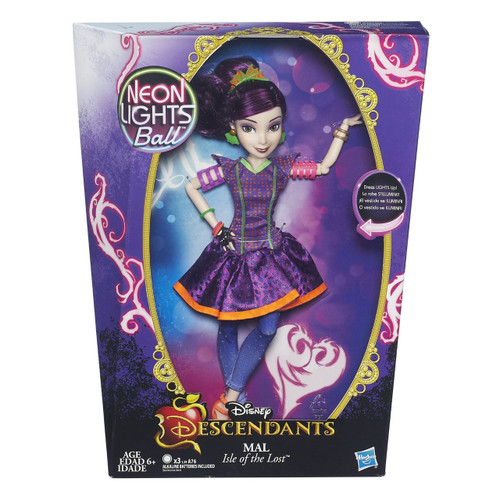 Disney Descendants Neon Lights Ball Mal of Isle of the Lost 11-Inch Feature Doll