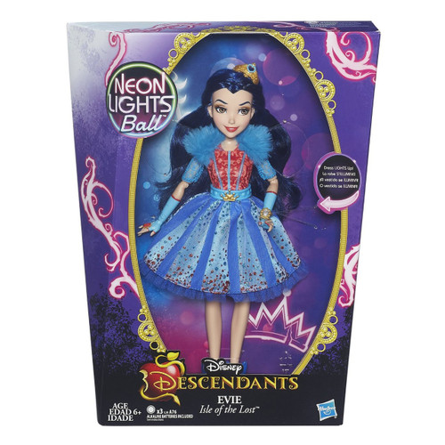 Disney Descendants Neon Lights Ball Evie of Isle of the Lost 11-Inch Feature Doll