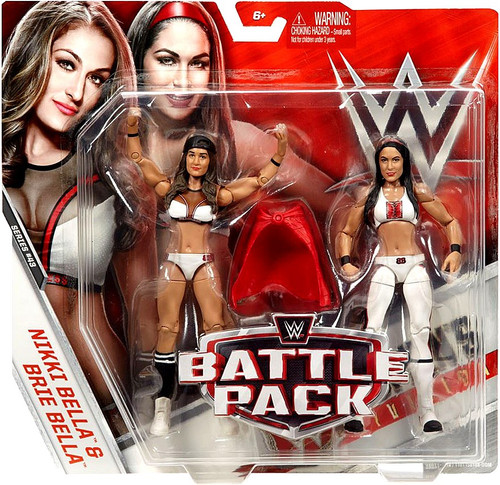 WWE Wrestling Battle Pack Series 43 Nikki & Brie (Bella Twins) Action Figure 2-Pack [White Outfits]