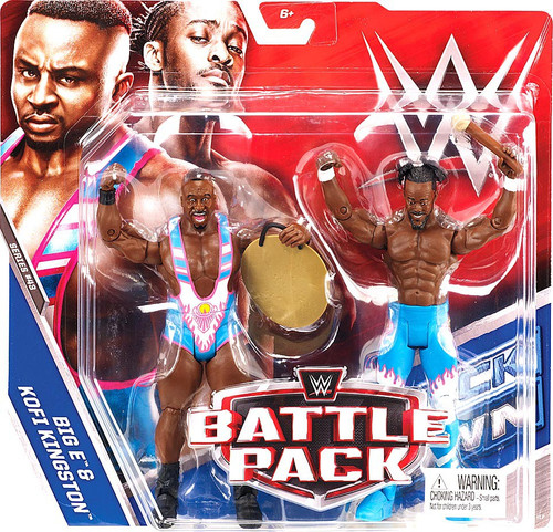 WWE Wrestling Battle Pack Series 43 Big E & Kofi Kingston (New Day) Action Figure 2-Pack
