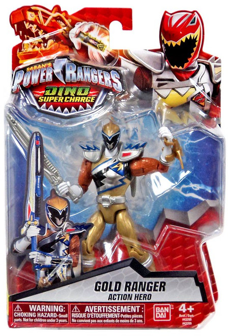 Power Rangers Dino Super Charge Gold Ranger Action Hero Action Figure