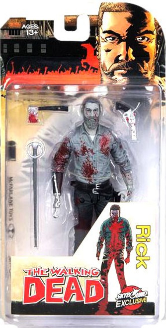 McFarlane Toys The Walking Dead Comic Rick Grimes (2016) Exclusive Action Figure [Bloody Black & White]