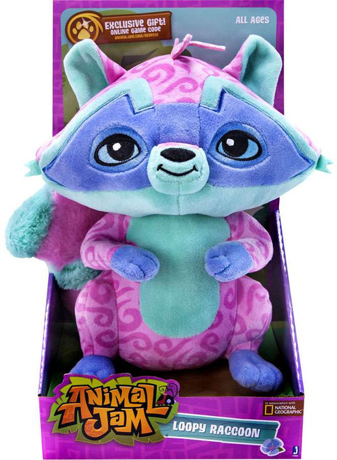 Animal Jam Loopy Raccoon 9-Inch Plush