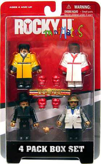 Minimates Rocky II Mini Figure 4-Pack [Rocky, Apollo, Paulie & Tiger Jacket Rocky, Damaged Package]