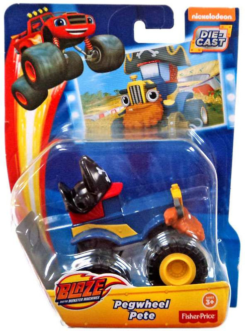 Fisher Price Blaze & the Monster Machines Pegwheel Pete Diecast Car