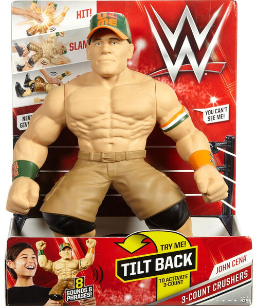 WWE Wrestling 3-Count Crushers John Cena Action Figure