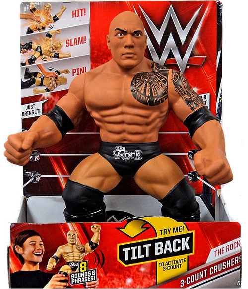 WWE Wrestling 3-Count Crushers The Rock Action Figure