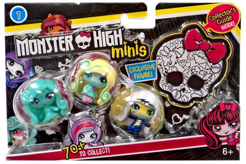 Monster High Minis Series 1 Frankie Stein, Lagoona Blue & Twyla Mini Figure 3-Pack
