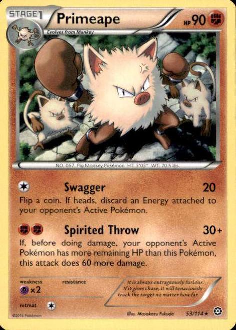 Pokemon X & Y Steam Siege Rare Primeape #53
