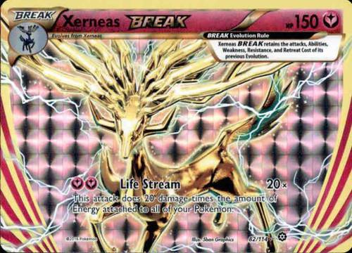 Pokemon X & Y Steam Siege Rare Holo BREAK Xerneas BREAK #82