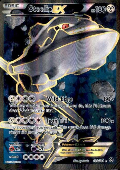 Pokemon X & Y Steam Siege Ultra Rare Steelix EX #108