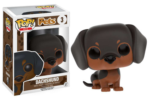 Funko POP! Pets Dachshund Vinyl Figure #3 [Dark Brown / Light Brown]