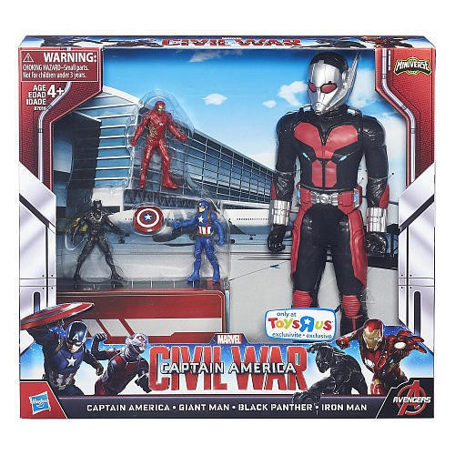 Civil War Miniverse Captain America, Giant Man, Black Panther & Iron Man Exclusive Action Figure 4-Pack